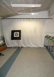 Indoorbogenbahn 15 Meter, 4 Stände-klein